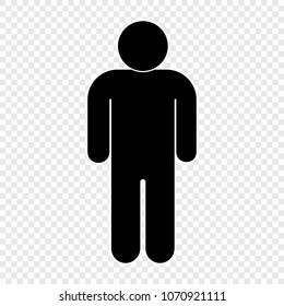 People icon on transparent background. Person symbol