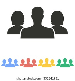 People icon on white background. Vector illustration.