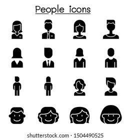 People icon set vector illustration graphic design