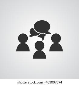 people  icon  , speech dialog vector illustration