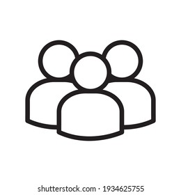 People Icon Vector Design Template Illustration In Trendy Flat Style
