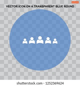 People Icon Vector flat design style