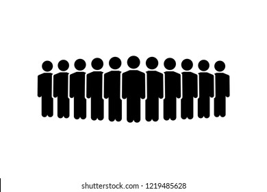 People Icon Vector. Flat icon persons, people group symbol