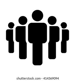 People Icon - Vector Group of Business Person in Glyph Pictogram illustration Symbol