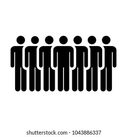 People Icon Vector Group of Men Team Symbol for Business Info-graphic Design in Glyph Pictogram illustration