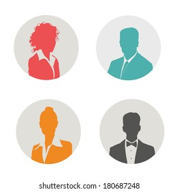 People icon. Vector illustration.