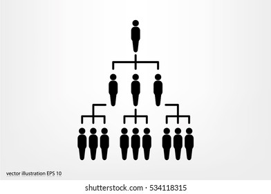 People icon vector illustration eps10. Organization chart infographic. Hierarchy pyramid concept