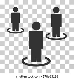 People icon. Vector illustration style is flat iconic symbol, gray color, transparent background. Designed for web and software interfaces.