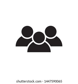 People icon vector logo design template