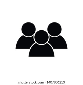 People icon vector logo template illustration