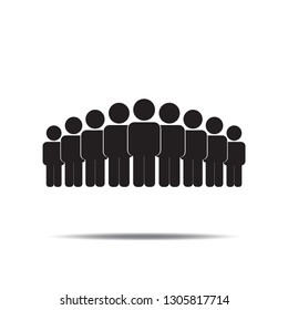 People icon vector.Population or Group of Businessman, human flat sign symbols logo illustration isolated on white background black color.Concepts objects design for Business.
