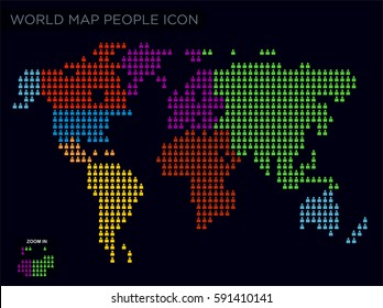 people icon world map