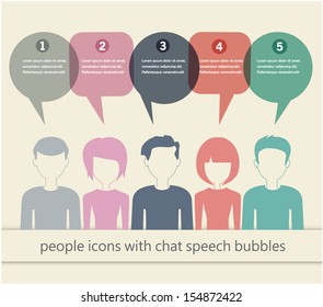 people icons with chat speech bubbles