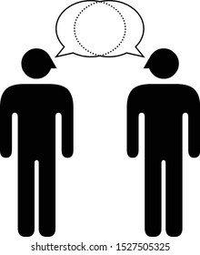 People icons - communication and worldview compatibility in a relationship and connection: conversation on equal footing.