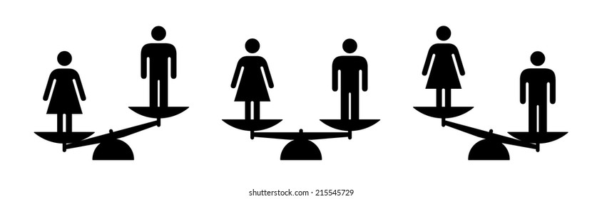 gender inequality icon images stock photos vectors shutterstock https www shutterstock com image vector people icons concept equality comparison justice 215545729