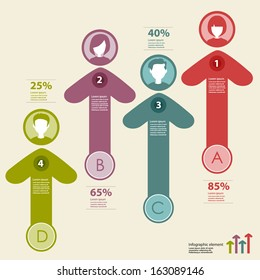 people icons infographic concept