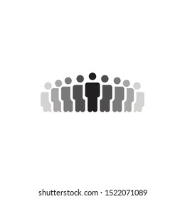 People Icons or logo  , Person work group Team Vector,Fade, Gradient