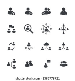 People icons pack. Isolated people symbols collection. Graphic icons element. User icon silhouettes vector. Social icon. User group network. Corporate team group. Community member icon. Business team