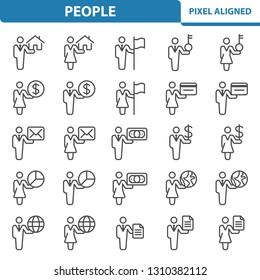 People Icons. Professional, pixel perfect icons, EPS 10 format.