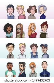 People Icons Profile Avatar Vectors