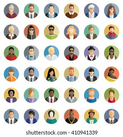 People Icons - Set of thirty-six icons.
