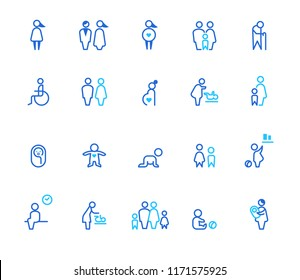 People icons, simple line set