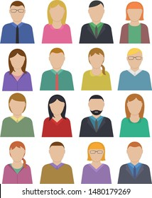 People icons. Vector people symbols.