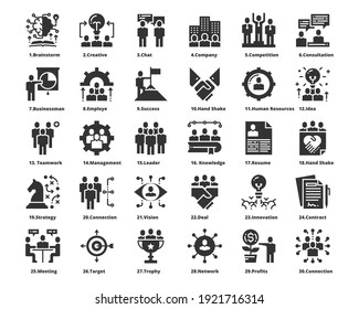 People Icons Work Group Team Vector ,Team,Business,Human Resources