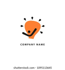 People idea logo, eco , social and humanity logo,Vector Logo Template. Vector illustration, Graphic Design Editable Design. Happy motivated people in colorful logo. Team web icon.