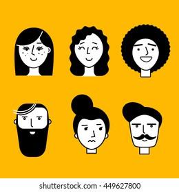 People illustration start up persona