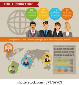 People infographic design