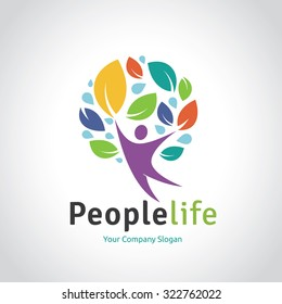 People Life Vector Logo Template