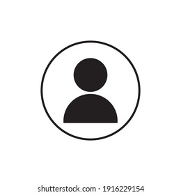 People line icon vector template.
