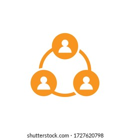 People links logo icon vector.