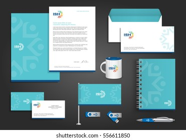 people logo color community group corporate identity template design blue, Yellow, Cyan, Green, red