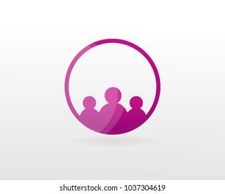 People Logo Design, Happy Family vector.
