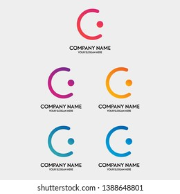 people logo design template with circle