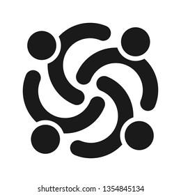 People logo. team icon. partner symbol. Vector eps 08.