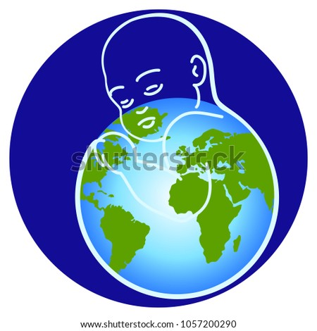 People Logos Greenpeace Earth Day Protect Stock Vector Royalty Free