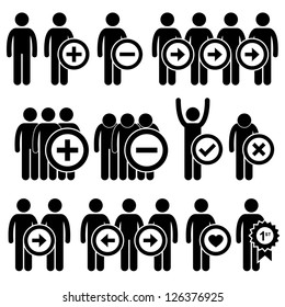People Man Business Human Resource Stick Figure Pictogram Icon