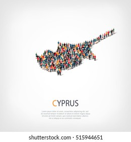 people map country Cyprus vector