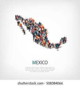 people map country Mexico vector