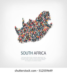 people map country South Africa vector