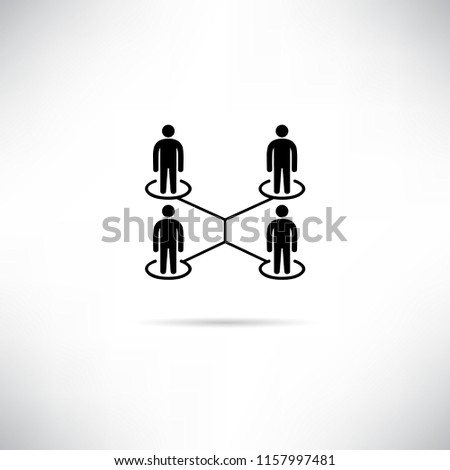 Miraculous People Network People Connection Diagram Icon Stock Vector Royalty Wiring 101 Capemaxxcnl
