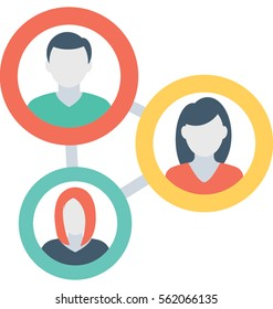 People Network Vector Icon