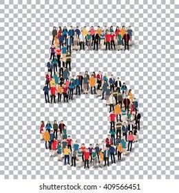 People number alphabet 3d