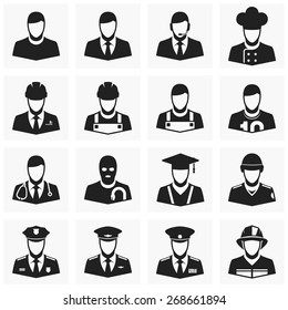 People occupations icons