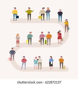 people on street vector illustration flat design
