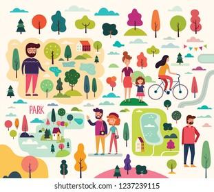 People on a walk
