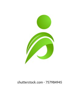 People person human logo character for Nature business industry